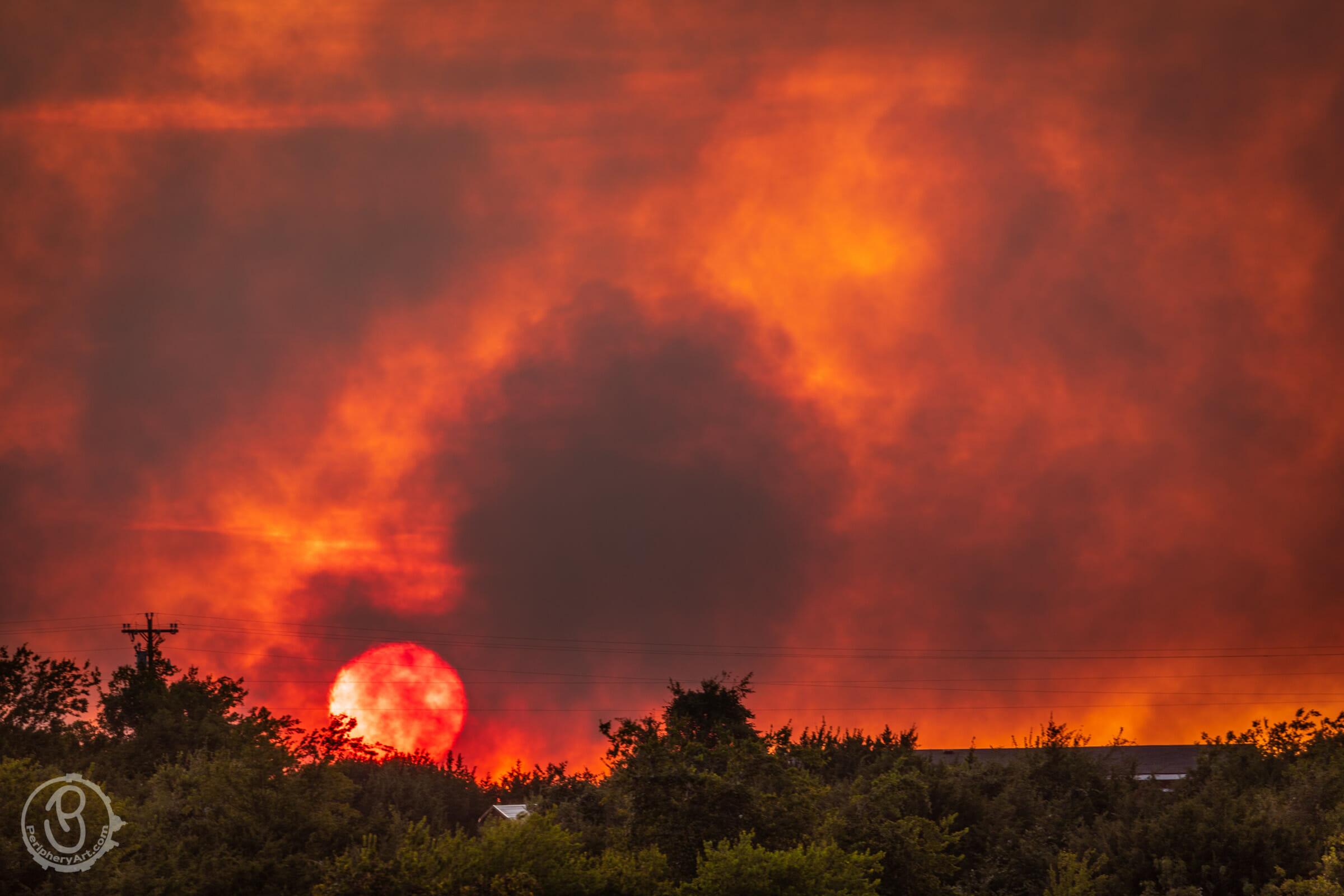Central Texas grass fire